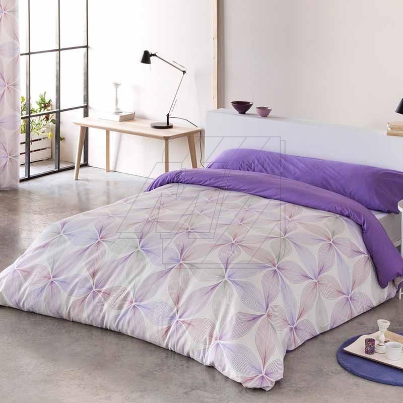 housse de couette lisboa mauve lila 140cm. Black Bedroom Furniture Sets. Home Design Ideas