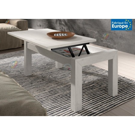 TABLE BASSE RECTANGULAIRE RELEVABLE - FRÊNE